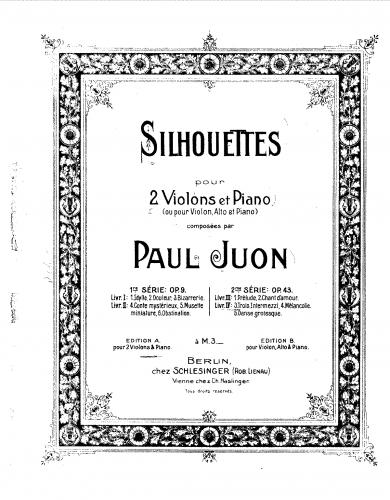Juon - Silhouettes (Series II) - Book 4