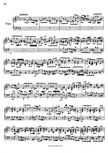 Albrechtsberger - Fuge - Score