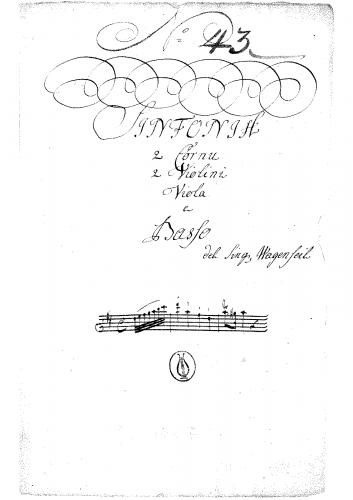 Wagenseil - Symphony in D major