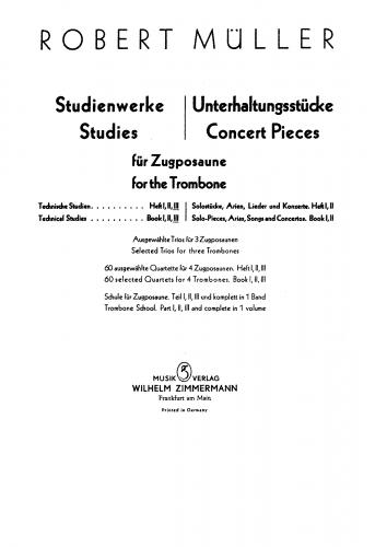Müller-Hartmann - Technische Übungen - Score