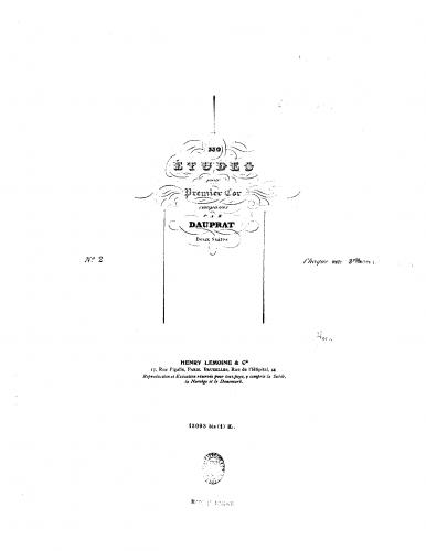 Dauprat - 330 Etudes for First Horn - Book 2 (Etudes 170-330)
