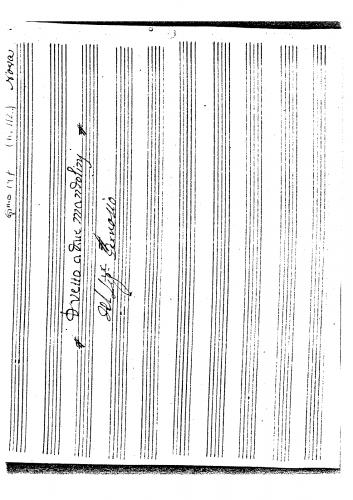 Gervasio - Duetto à Due Mandolini (Gimo 147) - Score