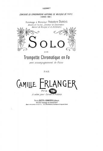 Erlanger - Solo de trompette chromatique en fa