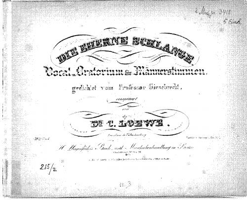Loewe - Die eherne Schlange - Score