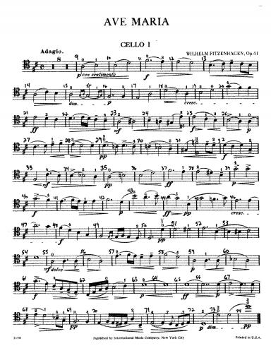 Fitzenhagen - Ave Maria for 4 Cellos