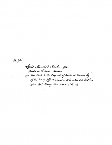 Anonymous - The Robert ap Huw Manuscript - Score