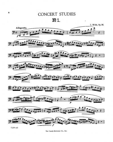 Milde - 50 Concert Studies - Book 2 (Nos.26-50)
