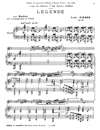 Diémer - Legende - Score