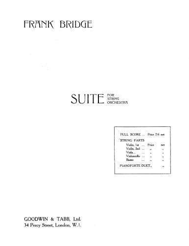 Bridge - Suite for String Orchestra - Score