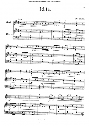 Adamic - Idila - Score
