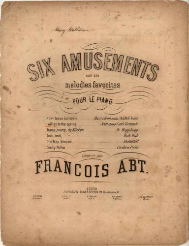 Abt - 6 Amusements sur des mélodies favorites - Piano Score - No. 2. Jetzt gang i an's Brünnele