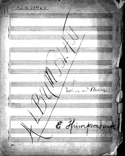 Humperdinck - Albumblatt in F major - Score