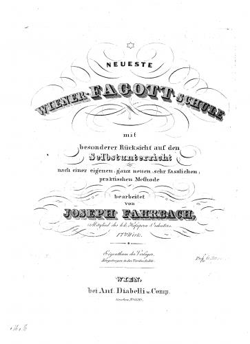 Fahrbach - Neueste Wiener Fagottschule - Complete Book
