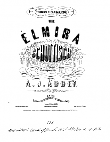 Abbey - Elmira - Piano Score - Score