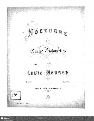 Maurer - Nocturne for 4 Cellos