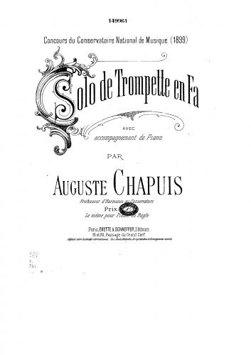 Chapuis - Solo de trompette en fa
