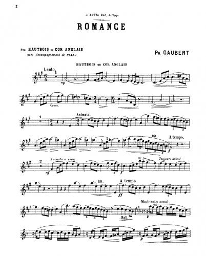 Gaubert - 2 Pièces pour hautbois et piano - Score