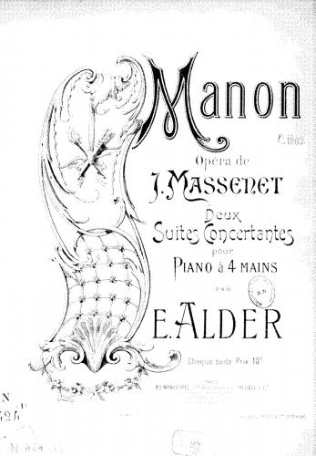Alder - 2 Suites concertantes sur 'Manon' - Score