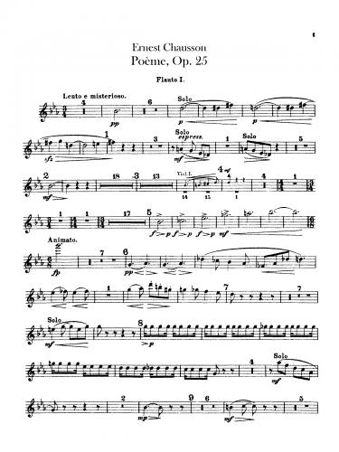 Chausson - Poème, Op. 25