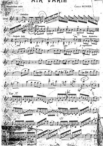 Munier - Air varié - Score