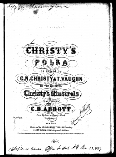 Abbott - Christy's Polka - Score