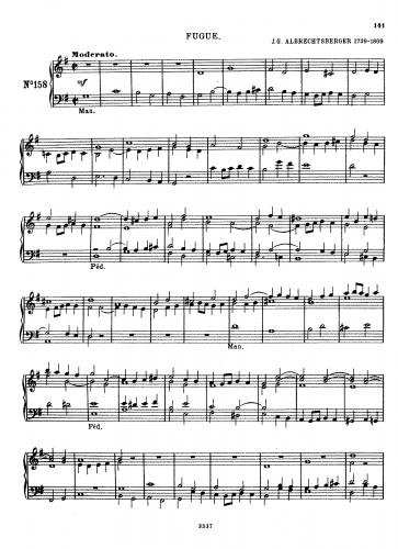 Albrechtsberger - Fugue in G major - Score