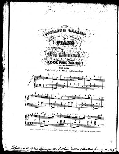 Abig - Pavilion Gallop - Score