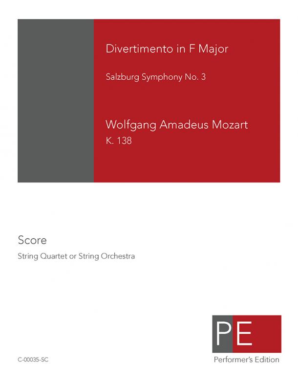 Mozart: Divertimento in F Major, K. 138