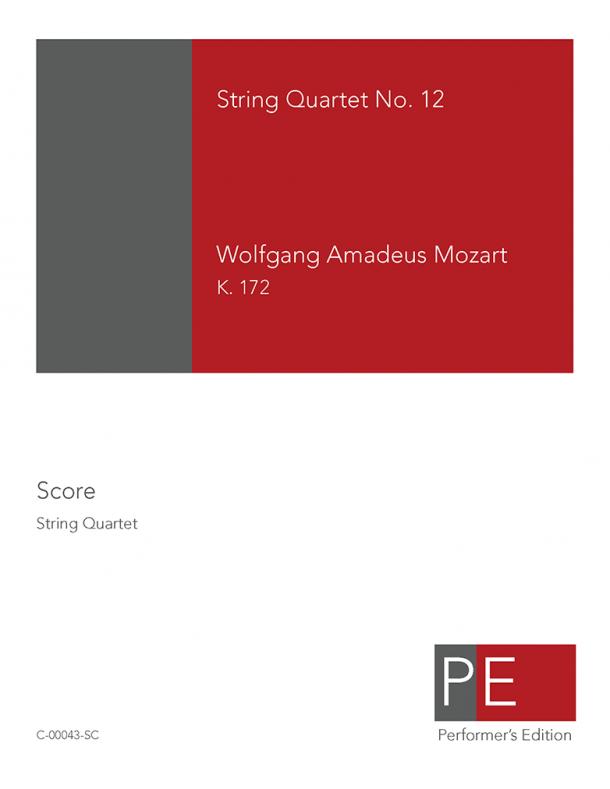 Mozart: String Quartet No. 12