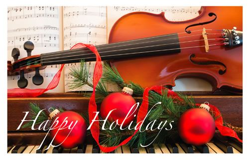 Holiday Cards - Violin & Piano