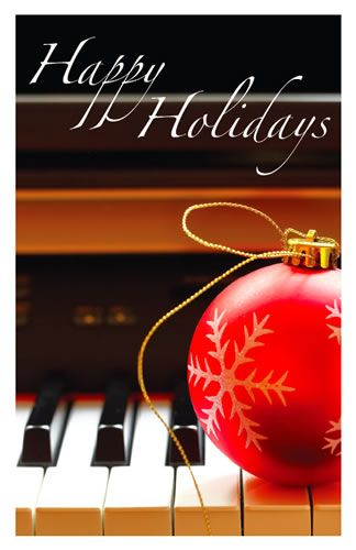 Holiday Cards - Ornament & Piano