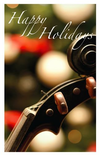 Holiday Cards - Violin & Tree