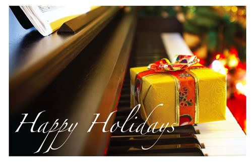 Holiday Cards - Piano & Gift
