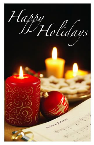 Holiday Cards - Candles & Sheet Music