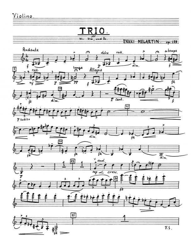 Melartin - String Trio