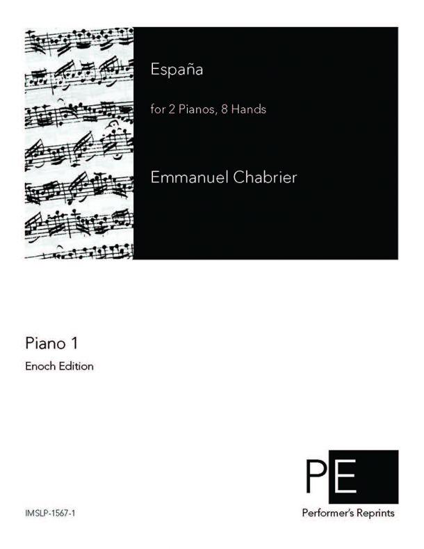 Chabrier - España - For 2 Pianos, 8 Hands