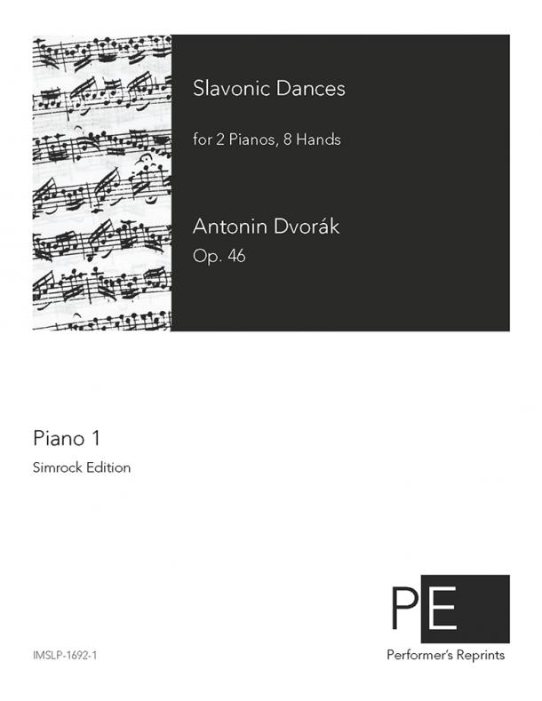 Dvořák - Slavonic Dances - For 2 Pianos, 8 Hands