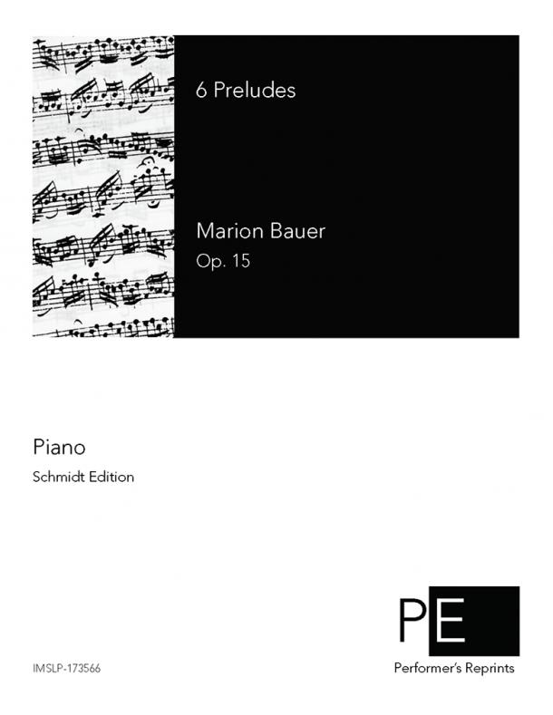 Bauer - 6 Preludes, Op. 15