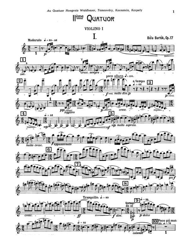 Bartók - String Quartet No. 2, Op. 17 (Sz.67)