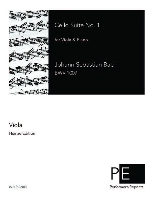 Bach - Cello Suite No. 1 - For Viola & Piano (Stade) - Viola part