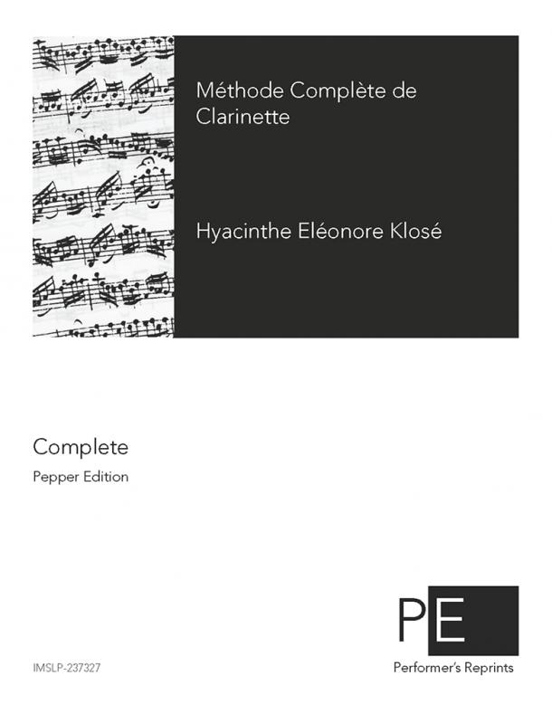 Klosé - Méthode complète de clarinette