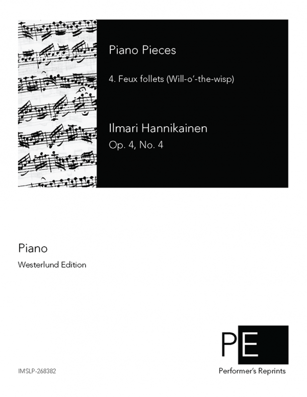 Hannikainen - Piano Pieces - 4. Feux follets (Will-o'-the-wisp)
