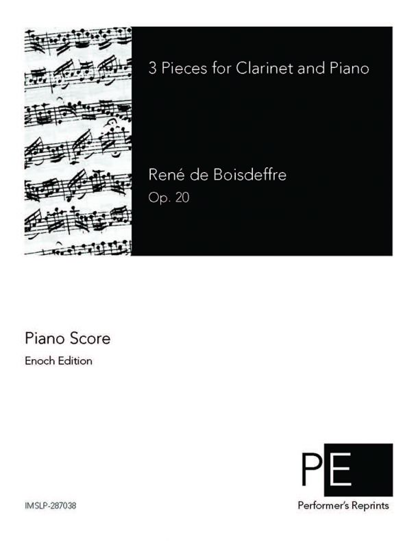 Boisdeffre - 3 Pieces for Clarinet & Piano
