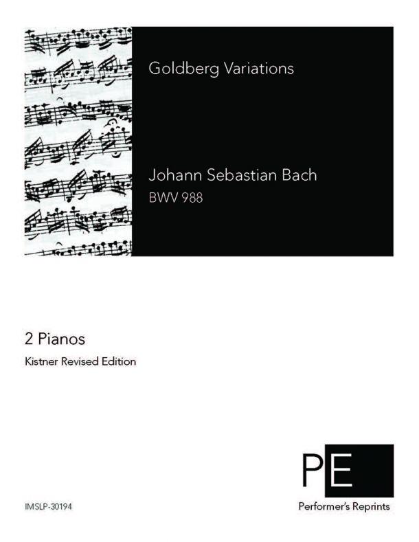 Bach - Goldberg-Variationen - For 2 Pianos