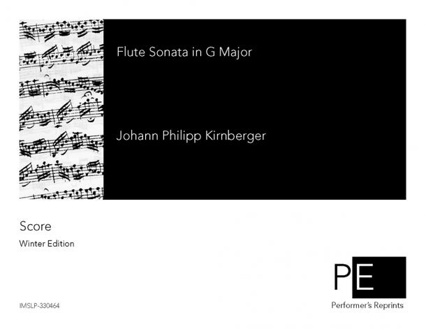 Kirnberger - Flute Sonata in G Major