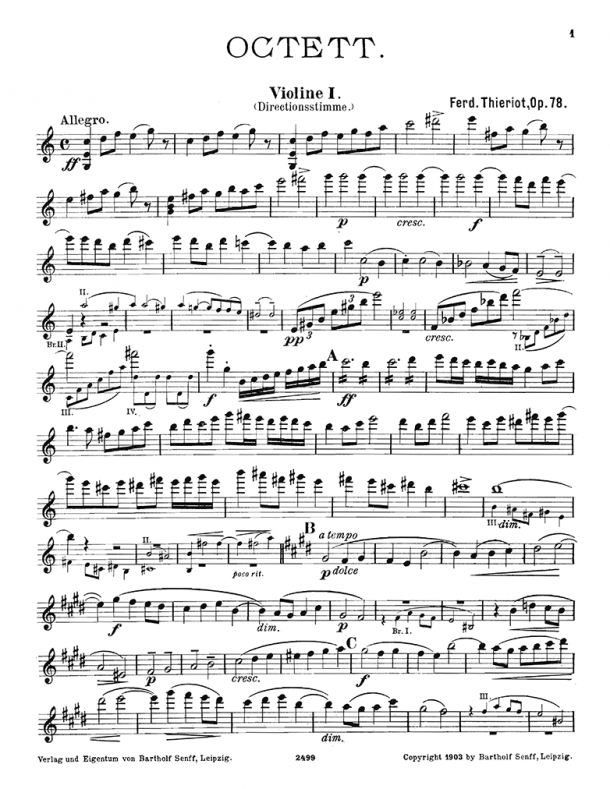 Thieriot - String Octet, Op. 78