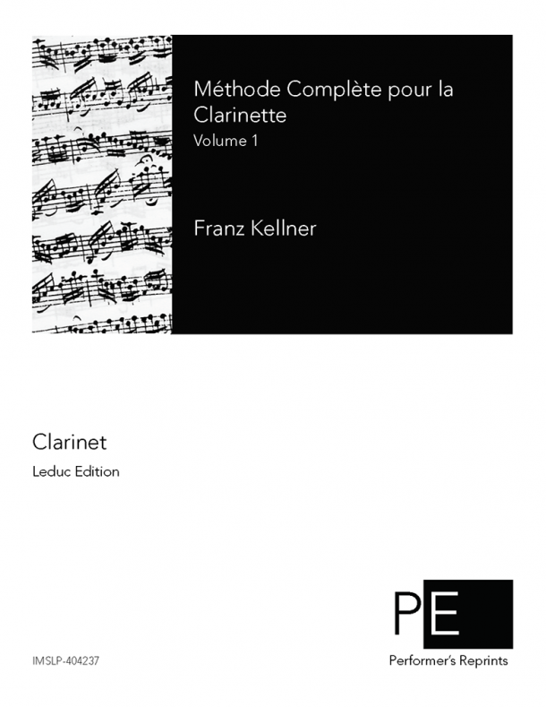 Kellner - Méthode complète pour la clarinette