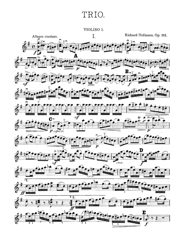Hofmann - Trio for 2 Violins & Viola