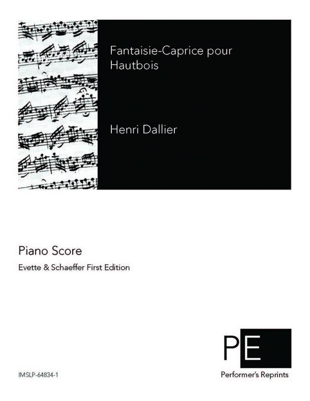 Dallier - Fantaisie-Caprice pour Hautbois