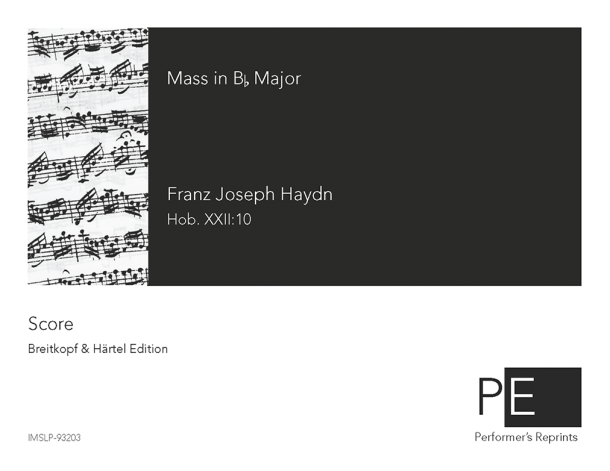 Haydn - Missa sancti Bernardi de Offida - Score